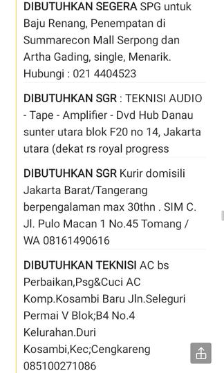 Aneka Info Loker Jakarta Via Poskota Kaskus