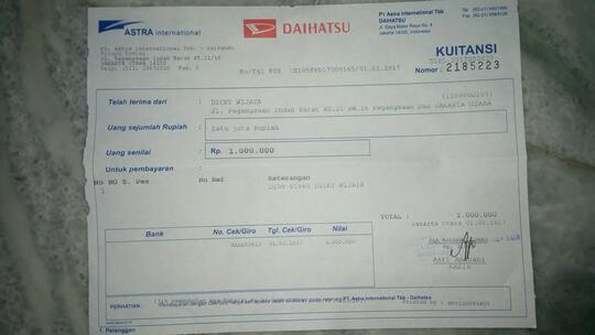 Pembatalan Sepihak Daihatsu Terhadap Unit Daihatsu Sirion