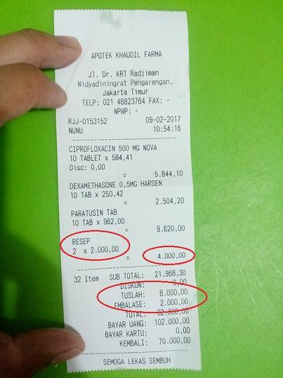 Biaya Siluman Apotek Khaudil Farma Krt Radjiman Kaskus