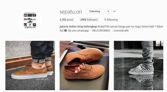 Penipuan Oleh Akun Instagram Sepatu Ori Kaskus