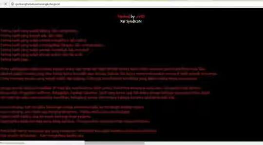 hacker gagal move on tulis pesan cinta nan galau di situs pemkot