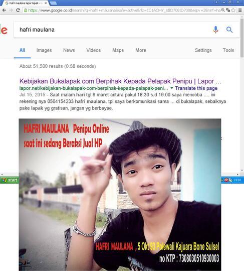 Hafri Maulana Penipuan Online Jual Hp Murah Kaskus