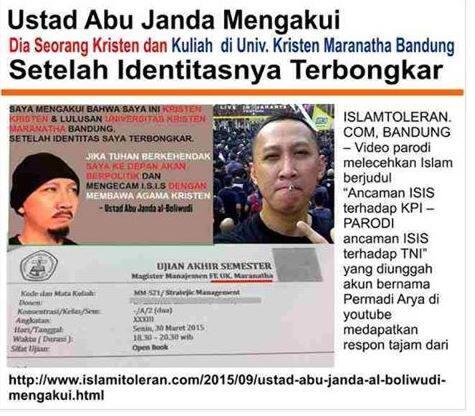 """Pernyataan Resmi NU tentang Akun """"Abu Janda Al Boliwudi"""""""