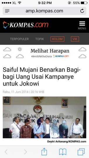 Survei SMRC: Tiga Tahun Pemerintahan Jokowi, Kepuasan Publik Capai 68 Persen