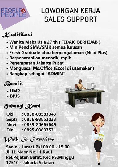 Loker Sales Support Jakarta Kaskus