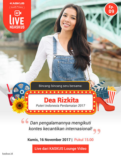 Wakil Indonesia di Miss Grand International 2017 Bakal LIVE Ngaskus, Gan Sis!