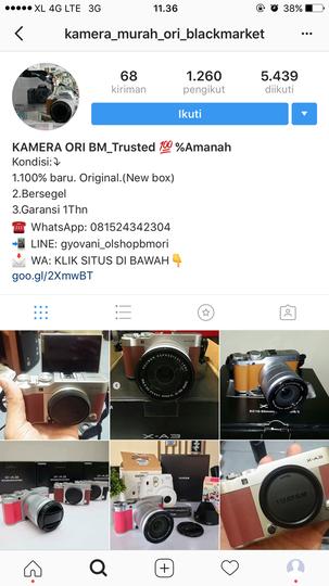 Hampir Saja Kena Penipuan Onlineshop Kamera Blackmarket Gyovani