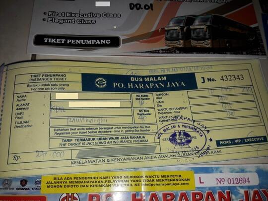 Naik Bus Tiketnya Jangan Dibuang. Desain Tiket Busnya Collectable, Gan!
