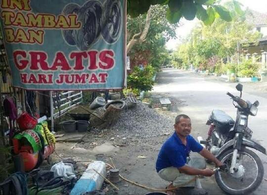 Tukang Tambal Ban, Pahlawan Sekaligus Musuh Pengguna Jalan Raya