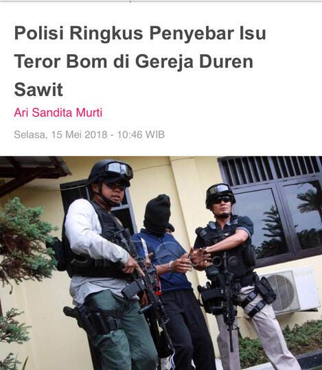 Diciduk di Bekasi, penyebar isu teror bom di gereja Duren Sawit mengaku iseng
