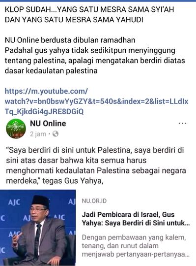 Transkrip Lengkap Dialog Gus Yahya di Israel