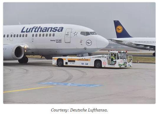 Taxibot ISRAEL yang hemat bahan bakar dikerahkan di bandara Jerman