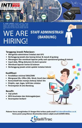 Lowongan Kerja Staff Administrasi Bandung