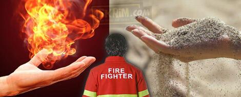 Pemadam Kebakaran Dengan Pasir, Mustahil Apa Terbuktikan, ya?