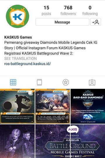 Akun Instagram Baru KASKUS Khusus Games? Follow Yuk!