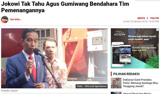 Jadi Mensos, Agus Gumiwang Diminta Mundur dari Tim Sukses Jokowi
