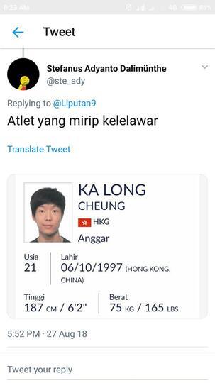 Nama-nama Nyeleneh Atlet di Asian Games 2018, Ngocok Perut Ane BRO !