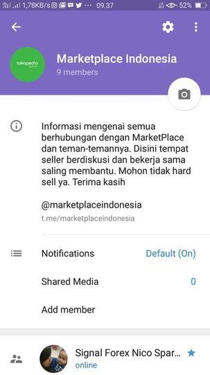 Group Telergam Marketplace informasi terbaru mengenai marketplace