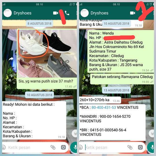 Penipuan Online Shop Dryshoes Nama Di Ig Dryshoesss Kaskus