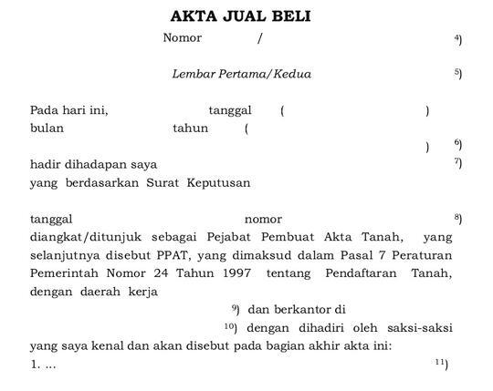 Jual Contoh Draft Akta Notaris