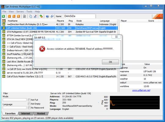Access violation at address 7EA664B  Read of Address