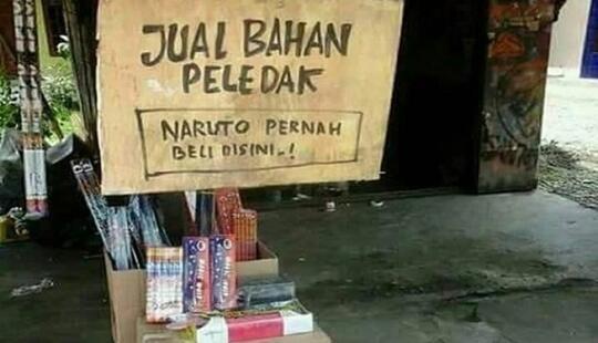 Ngakak ! Tulisan Konyol di Barang Dagangan Ini Bukti Orang Indonesia Kelewat Kreatif