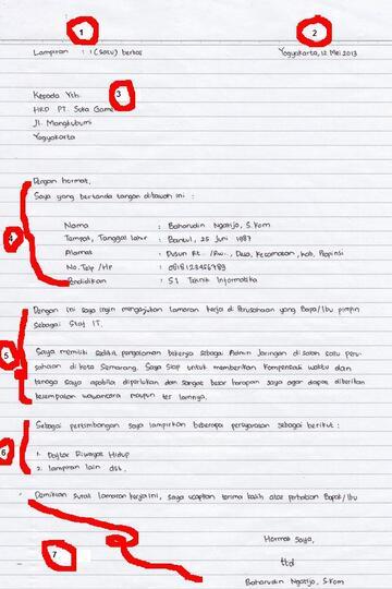 Contoh Dan Cara Membuat Surat Lamaran Kerja Tulis Tangan
