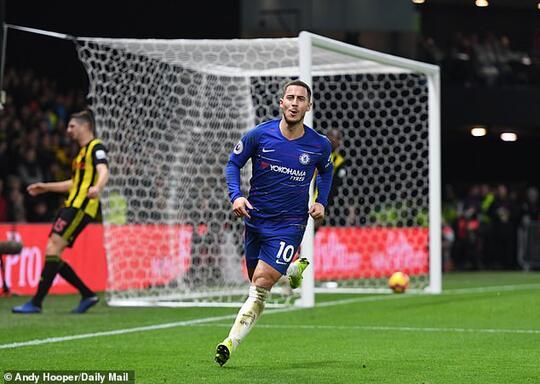 Eden Hazard Lampaui 100 Gol di Chelsea