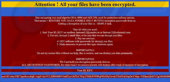 Fantom Ransomware, Ransomware yang menyamar sebagai Windows Update