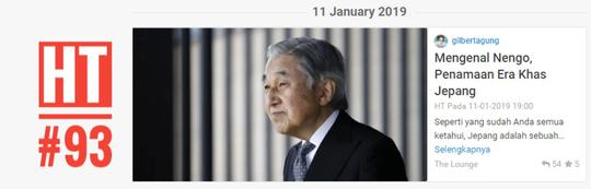 Mengenal Nengo, Penamaan Era Khas Jepang