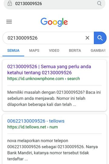 Bahaya No Telepon Penipuan 6221 30009526 02130009526 Telkom