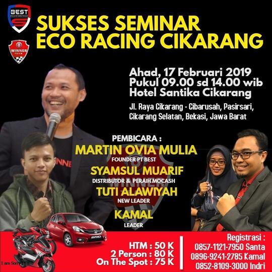 Sukses Seminar Eco Racing Cikarang 17 Januari 2019 Kaskus