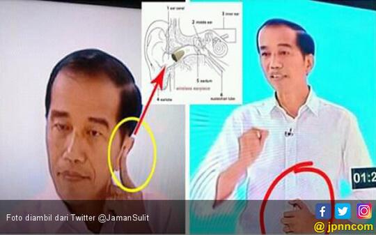 Apa Benar Jokowi Pakai Earphone Saat Debat Kedua Capres?