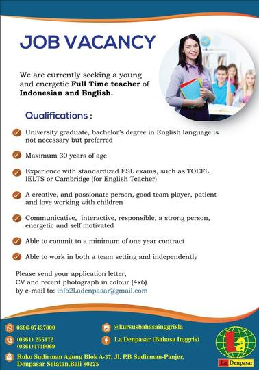 Lowongan Kerja Guru Bahasa Inggris Kaskus