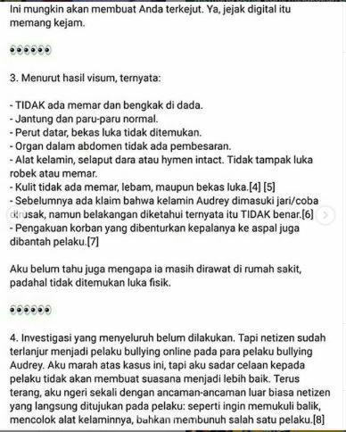 Apakah #JusticeForAudrey Hanyalah Hoax Belaka ?