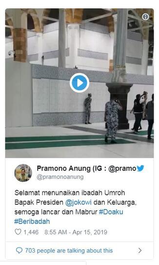 Foto dan Video Jokowi Masuk Kabah dan Dikawal Laskar Masjidil Haram Saat Umroh