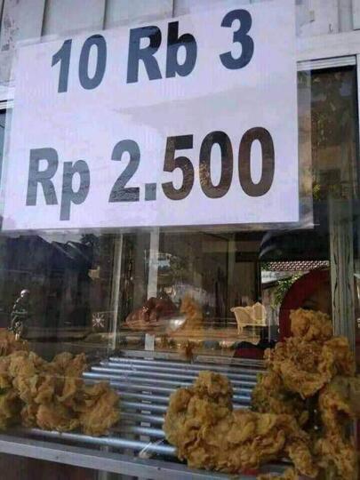 Teka - Teki Ayam Goreng Yang Dijual Super Murah Ini Akhirnya Terungkap