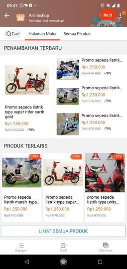 Hati Hati Penipuan Sepeda Listrik Selis Di Online Store