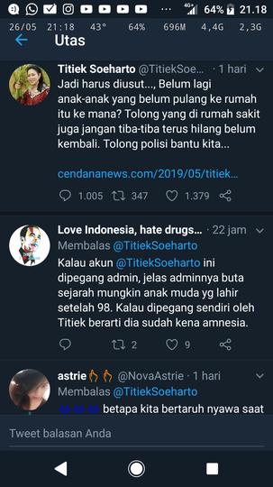 Titiek Prabowo Mencuit Tentang Aksi Demo 22 Mei, Langsung Kena Komentar Pedas Netizen