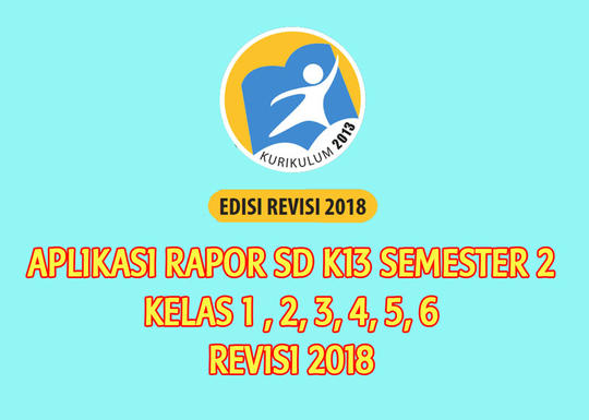 Aplikasi Raport Kurikulum 2013 K13 Sd Kelas 1 6 Seemster 2 Revisi 2018 Kaskus