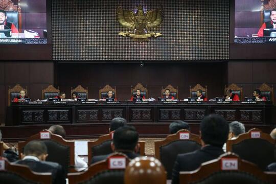 [UPDATE] Hasil Putusan Sidang Sengketa Pilpres 2019 di Mahkamah Konstitusi