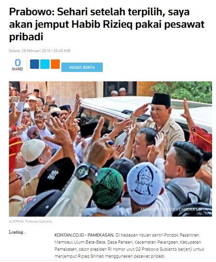 Kecewa, Prabowo Hormati Putusan MK Tolak Gugatan Pilpres, Batal deh jemput Rizieq