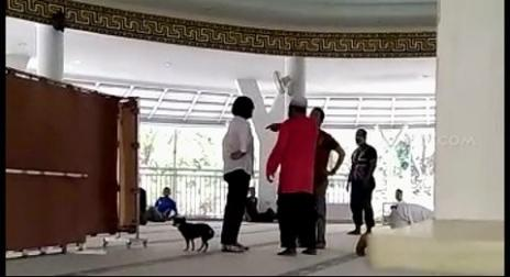 Wanita Pembawa Anjing dalam Masjid Tertangkap, Ini Identitasnya