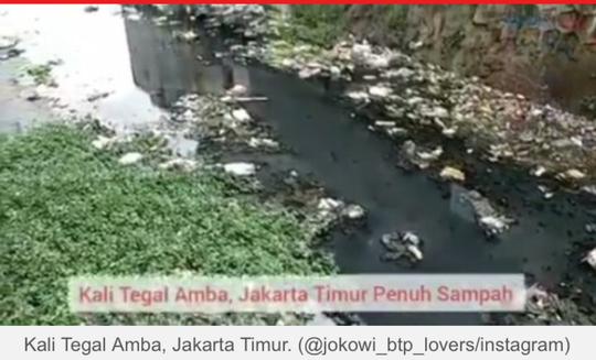 Kali di Jaktim Penuh Sampah, Warganet : Kok Jakarta Makin Rusak?