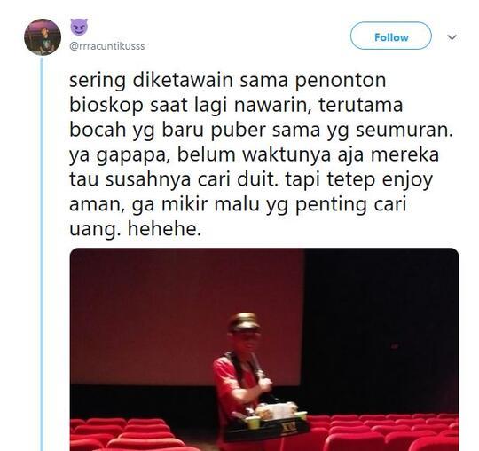 Lagi Viral! Penjaja Popcorn di Bioskop Direndahkan ABG Labil