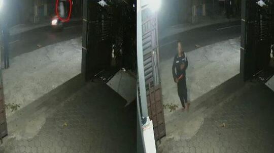 VIRAL Pocong Dibonceng Pengendara Motor Terekam CCTV, Satpam Pabrik Terbirit-birit