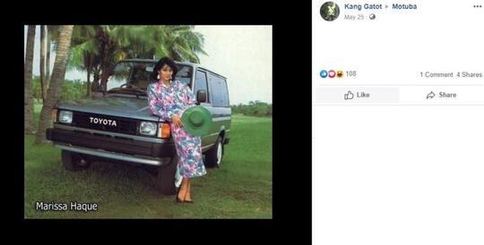 """Foto Iklan Mobil Jadul Ini VIRAL, """"MODEL CANTIK""""nya Bikin SALFOK Netizen!"""