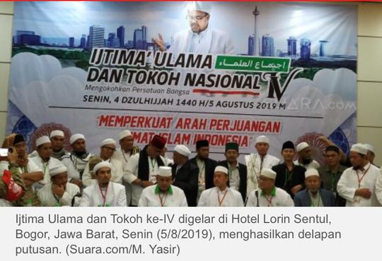 Hasil Ijtima Ulama IV: Pulangkan Habib Rizieq hingga Wujudkan NKRI Syariah