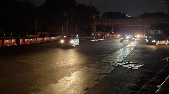 Beginilah Suasana Jakarta Mati Lampu di Malam Hari