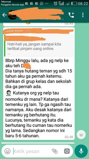 Temen SMP-pun Ditagih, NgeRI BAnget Pinjaman Online, GanSis Pernah Nyoba?